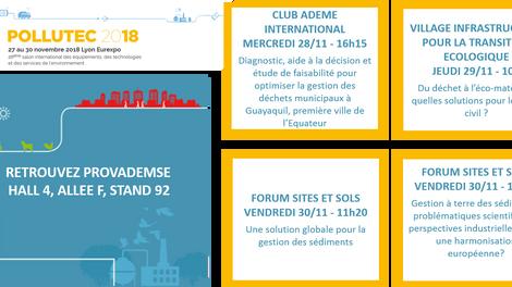Programme de conférences PROVADEMSE sur POLLUTEC 2018
