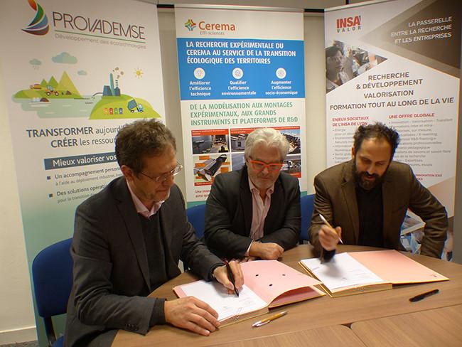 De gauche à droite : Jean-Louis Six, Pascal Berteaud, Nicolas Penet - Copyright Cerema