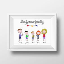 Personalised Family Cartoon Portrait