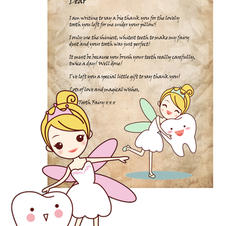 Personalised Tooth Fairy Letter