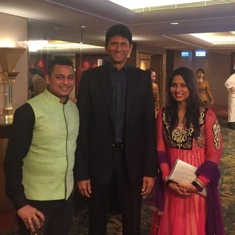 Venkatesh Prasad with Gary & Neha