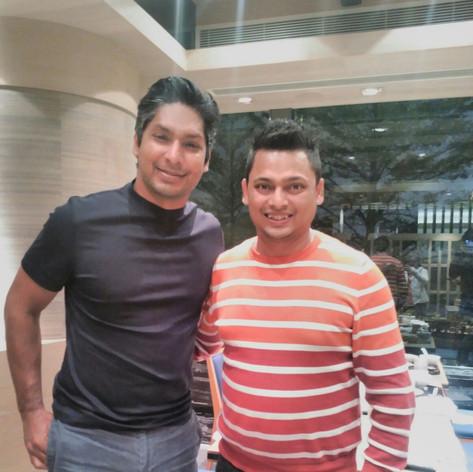 Kumar Sangakkara with Gary