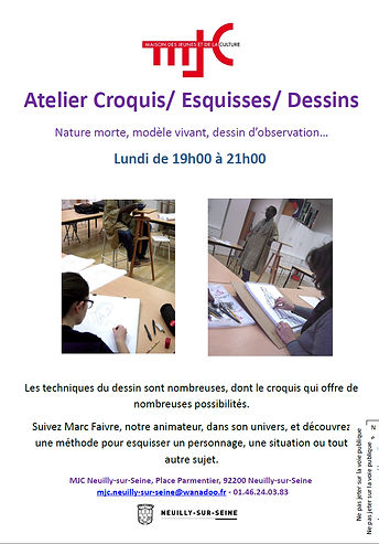 Cours de dessin Neuilly
