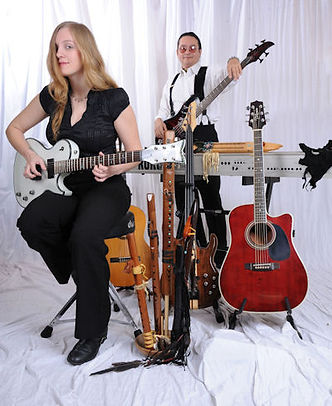Whispering Light EPK featuring female lead guitarist Lindy Day and multi-instrumentalist Kevin Village-Stone