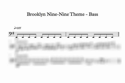 Brooklyn 9-9 Theme Tune - Bass Transcription
