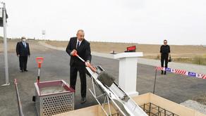 Prezident Füzuli-Ağdam avtomobil yolunun təməlini qoyub