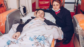 """Ağır yaralı 27 qazi """"YAŞAT"""" Fondu tərəfindən Türkiyəyə göndərildi - FOTO"""