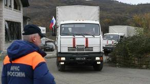 Rusiya Kəlbəcərə 185 ton yük göndərdi
