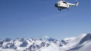 Azərbaycan helikopteri Kəlbəcərə endi - 28 ildən sonra - VİDEO