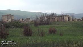 Müdafiə Nazirliyi Ağdam rayonunun Qarapirimli kəndinin videogörüntülərini paylaşıb VİDEO