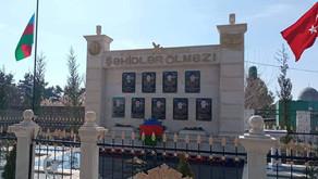 Sabirabad rayonu Ulacalı kəndi şəhidləri üçün abidə ucaldılıb. FOTO