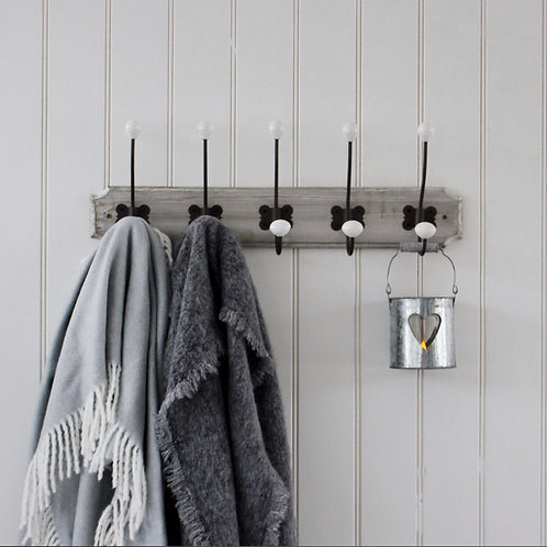 Grey Wash 5 Wooden Hook