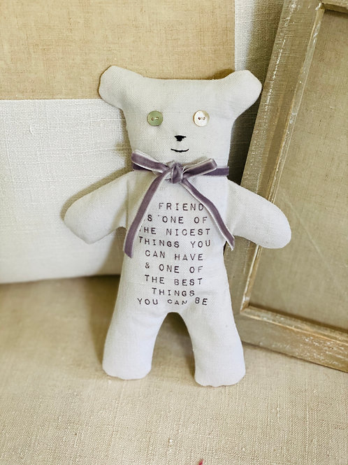 Vintage Linen Friend Bear