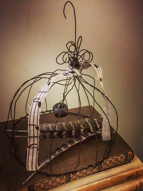 Wirework Cloche/ Bird Cage