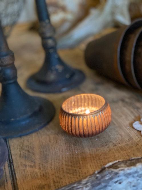 Ribbed Mini Tea Light holder