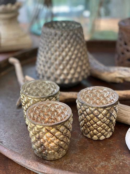 Antique Mocca Tealight Holder
