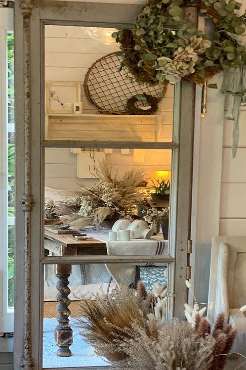 Reclaimed French window mirror