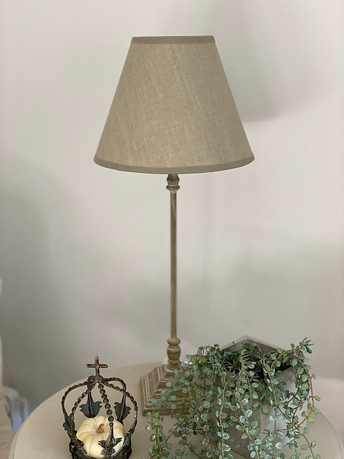 Candlestick lamp base & shade