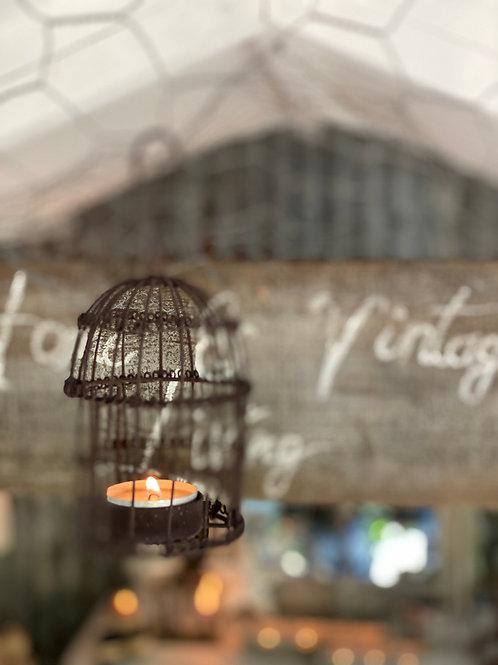 Mini birdcage tea lightholder