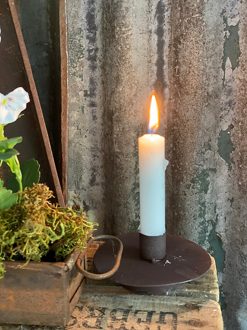 Large rustic table candle holder