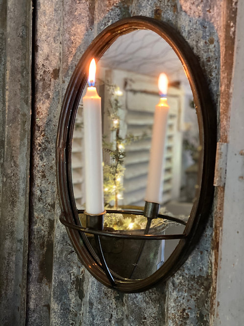 Oval Mirror candle holder