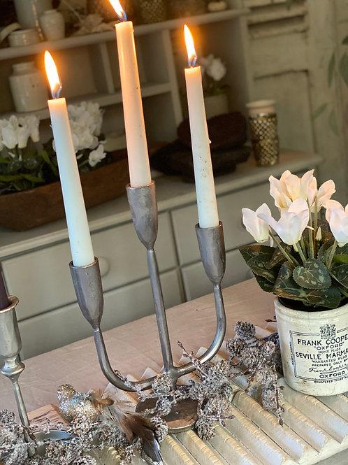 Hammered Silver candelabras