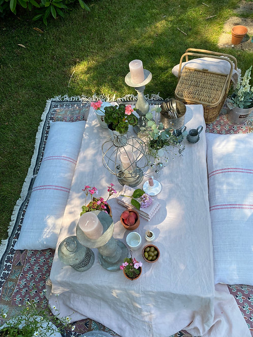 Soft Stone washed Linen Table cloths