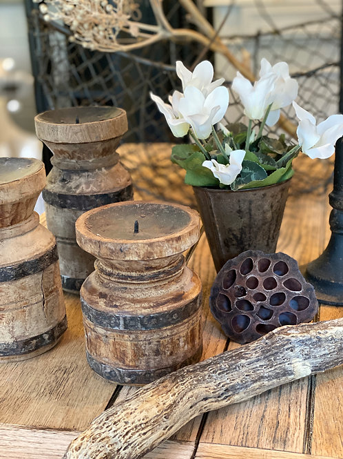 Indian pedestal candle holders