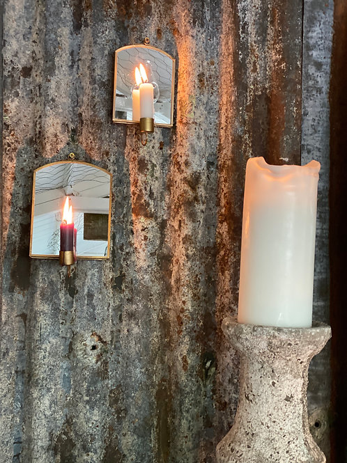 Rustic Pillar Candle Stand