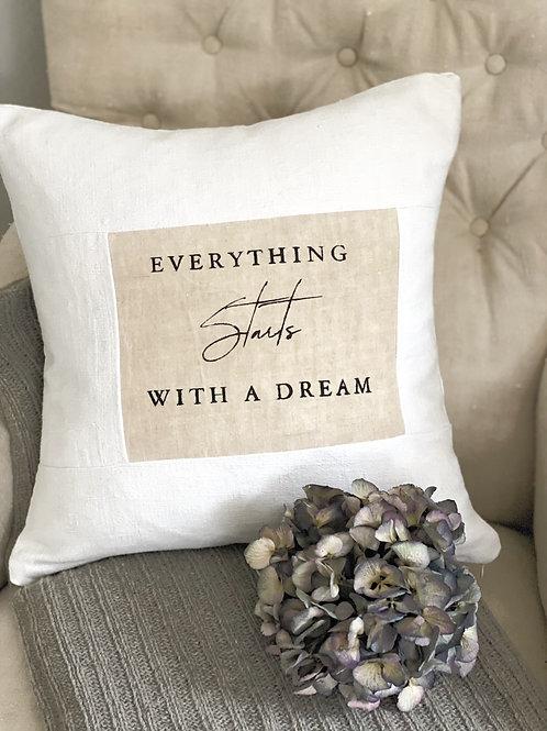 Handprinted Linen Cushion