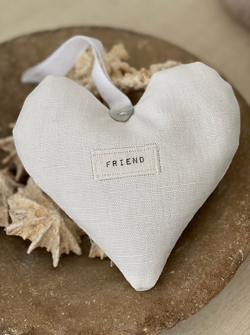 Linen Lavender Heart with Tag