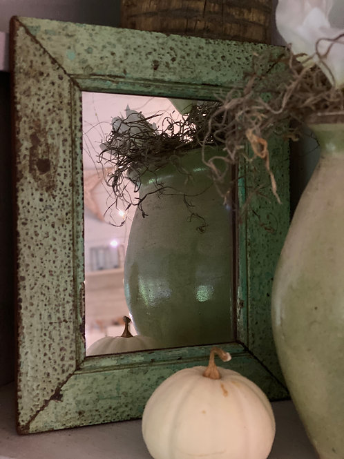 Distressed reclaimed mirror