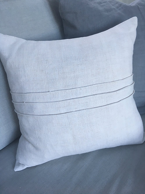 Hemp Pin Tucked Cushions with feather pad