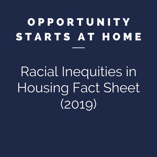 Racial Inequities in Housing Fact Sheet