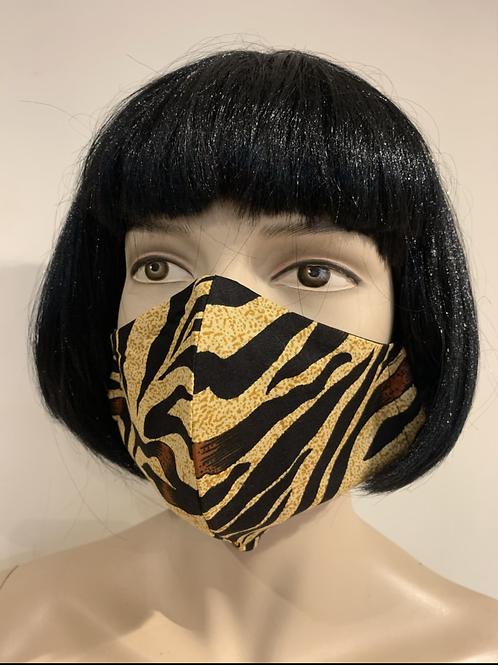 Masque moulé tigré