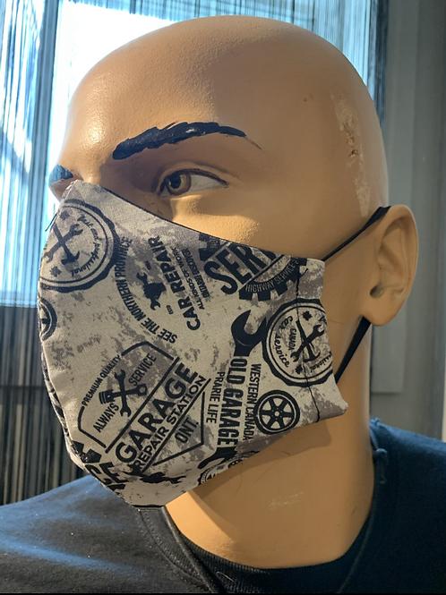 Masque moulé garage vintage