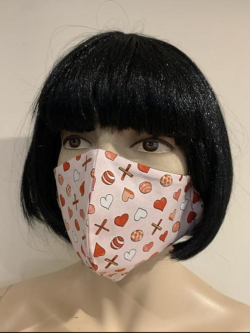 Masque moulé candy heart