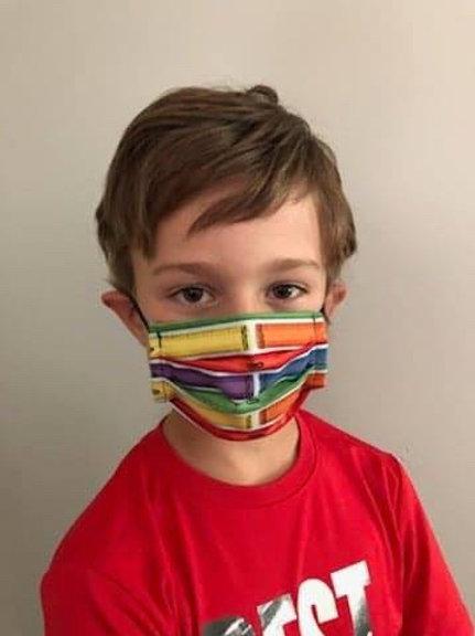 Masque enfant crayola