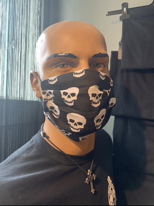 Masque skull blanc