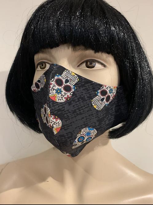Masque moulé sugar skull