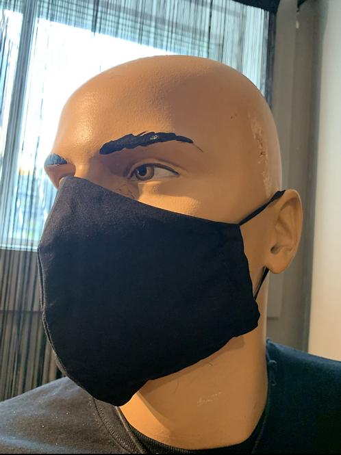 Masque moulé noir