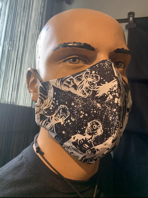 Masque moulé zombie
