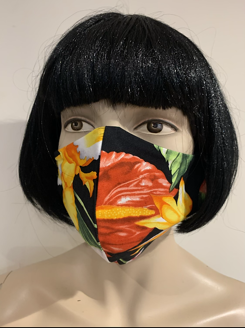 Masque moulé fleurit