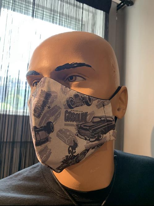 Masque moulé kustom gris pâle