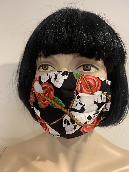 Masque skull roses