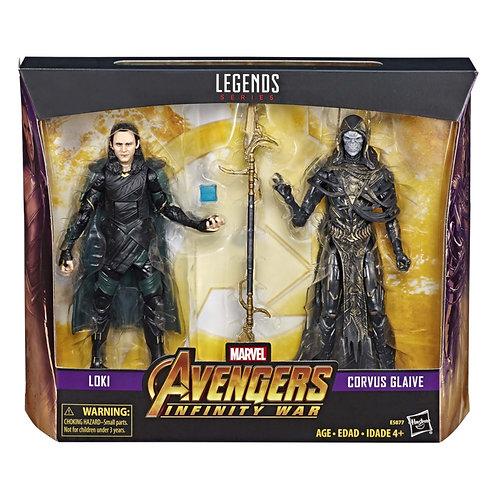 Marvel Legends 80th Anniversary Loki vs. Corvus Glaive 6-Inch Action Figures