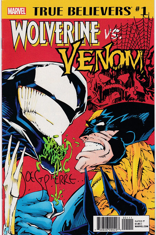 True Believers Wolverine vs. Venom #1 Joe St Pierre Sketch and Signed