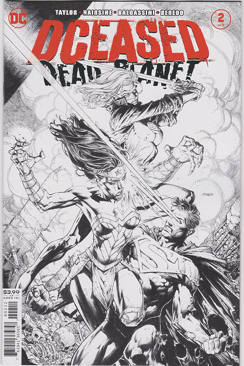 DCeased Dead Planet #2 (of 6) 2nd Printing Black & White Variant