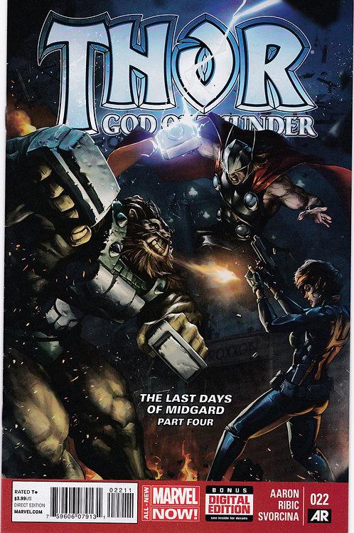 Thor God of Thunder #22