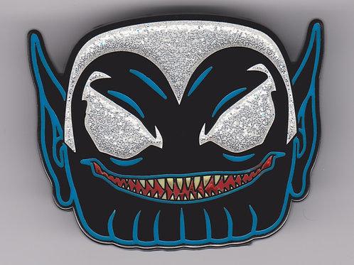 Funko Venomized Skrull GameStop Exclusive Pop! Pin [Glitter Chase]